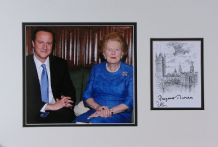 David Cameron & Margaret Thatcher Autograph Signed Bookplate